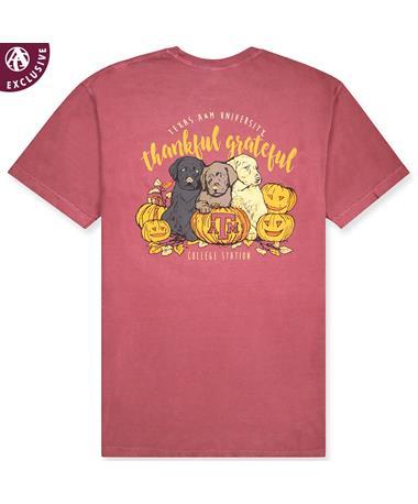 Texas A&M Thankful Grateful Pups & Pumpkins T-Shirt