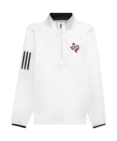Texas A&M Adidas 3 Stripe Quarter Zip