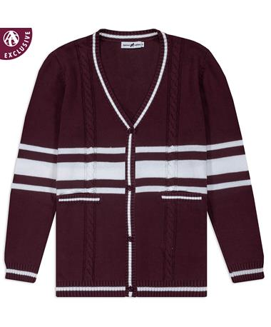 Maroon Emerson Street Teague Fashion Cable Cardigan