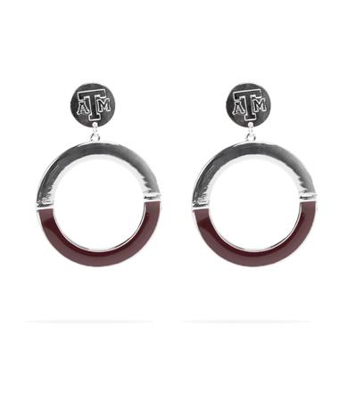 Texas A&M McKenna Sphere Earrings