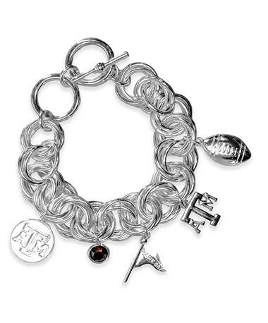 Texas A&M Emerson Street Gilda Silver Charm Bracelet