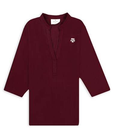 Texas A&M V Neck Harper 3/4 Sleeve Tunic
