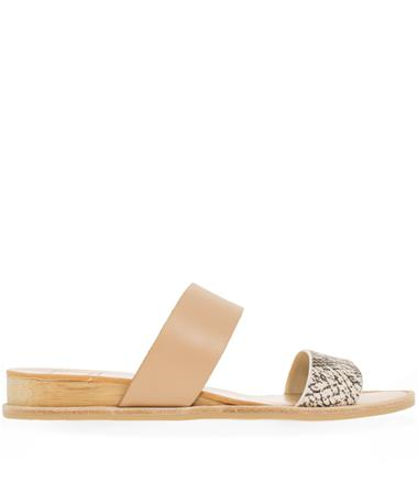 Payce Stone Snake Leather Sandals