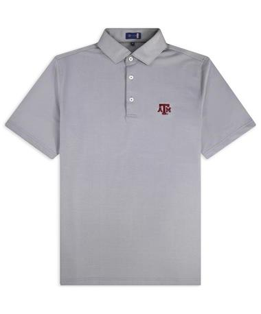 Texas A&M Stitch Solid Oxford Polo