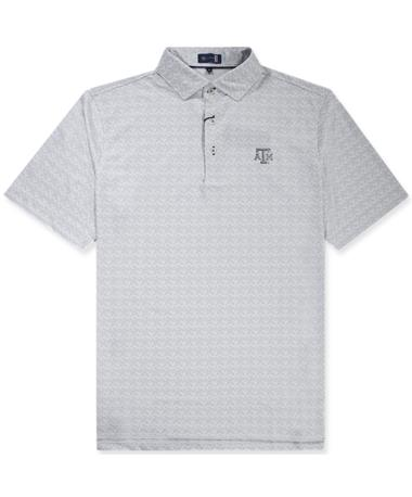 Texas A&M Stitch Painted Leaves Polo