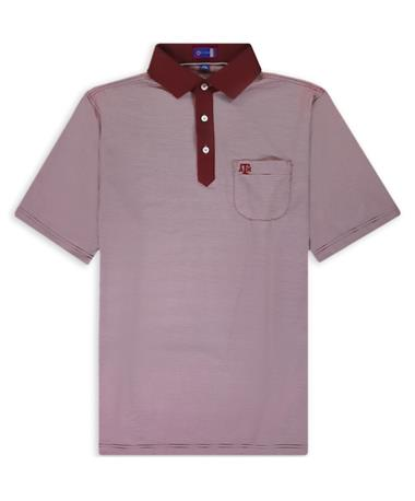 Texas A&M Stitch Verona ATM Striped Polo