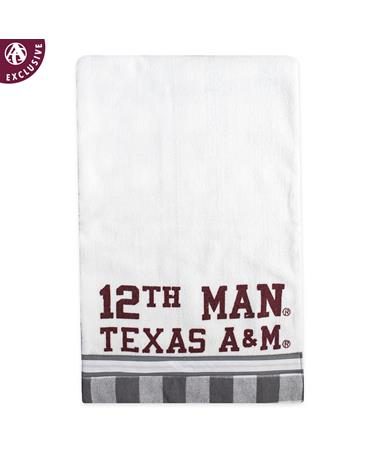 Texas A&M Checkered 12th Man Rectangle Burp Rag