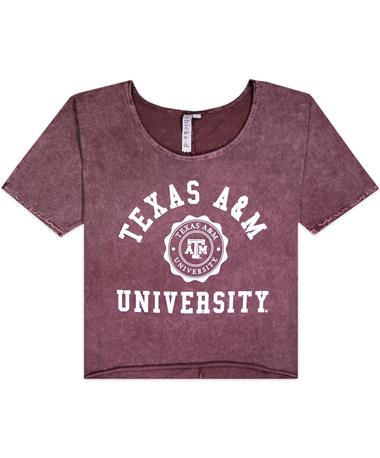 Texas A&M University Off The Shoulder Tee