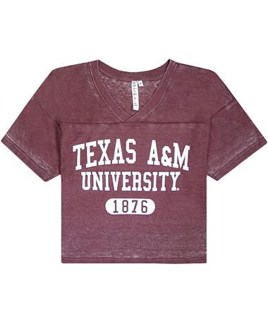 Texas A&M Waffle Jersey Top