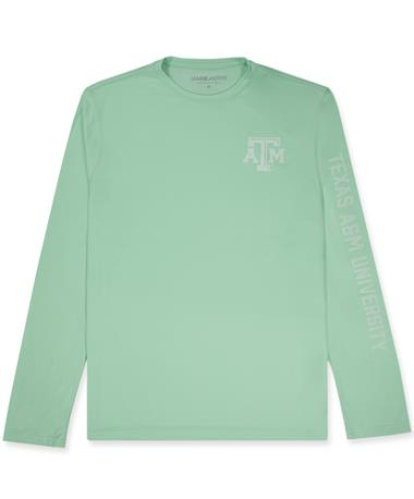 Texas A&M League Lightweight Cool Mint Green Long Sleeve Tee