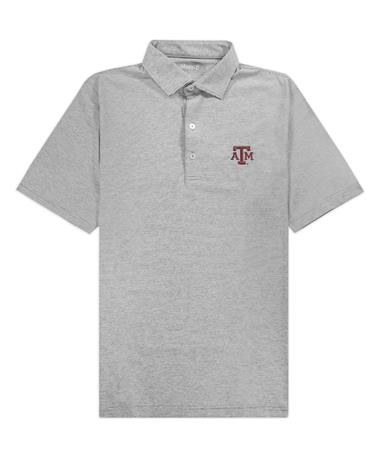 Texas A&M Johnnie-O Lyndon Prep Performance Jersey Polo