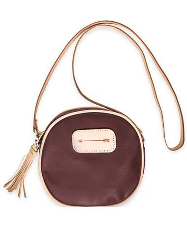 Maroon Jon Hart Luna Arrow Crossbody Bag - Front - Strap Burgundy