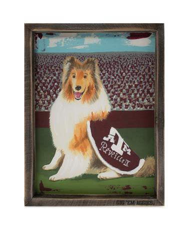 Texas A&M Reveille Framed Canvas Multi