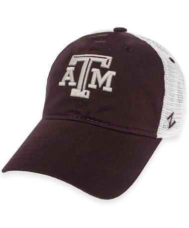 Texas A&M Zephyr Vintage Adjustable Mesh Back Cap