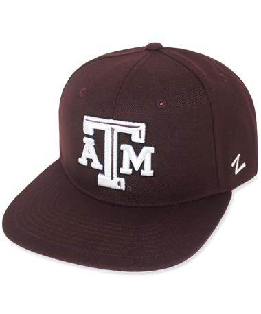 Texas A&M Zephyr Flatbill Adjustable Cap