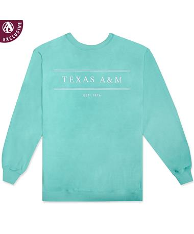Texas A&M Straight Line Sweatshirt 1566 Chalky Mint