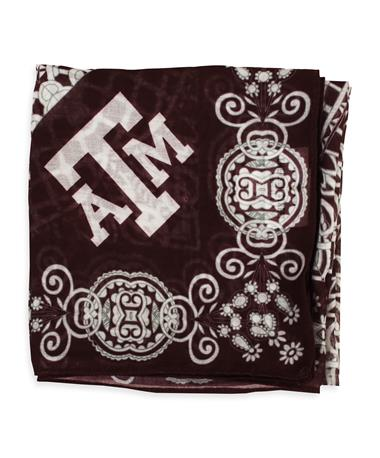 Texas A&M Bailey & Lilly Print Sheer Scarf