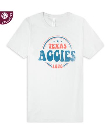 Texas A&M Aggies Patriotic Bubble Letters T-Shirt