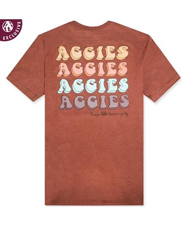 Texas A&M Four Times Aggie Tee 3413C Clay
