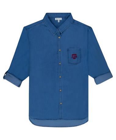 Texas A&M Button Up Denim Shirt