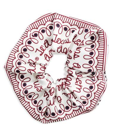 Texas A&M League Spirit Scrunchie
