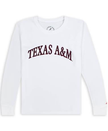Texas A&M League Youth Lightweight Arched Tee