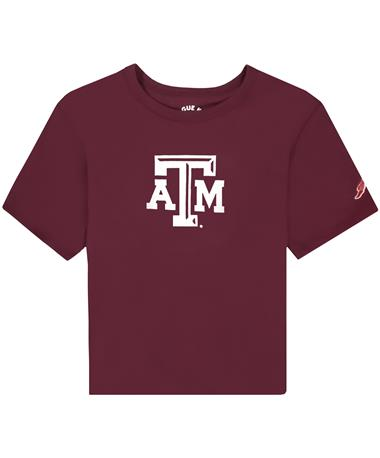 Texas A&M League Girls Cut Off Tee