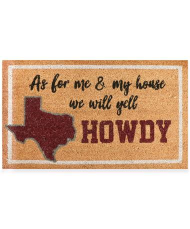 We Yell Howdy Doormat