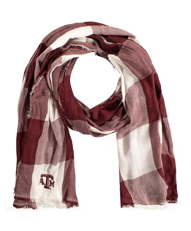 Texas A&M ZooZatz Buffalo Check Scarf
