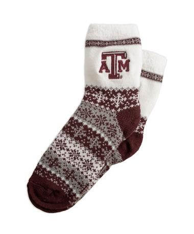Texas A&M ZooZatz Maroon Holiday Socks