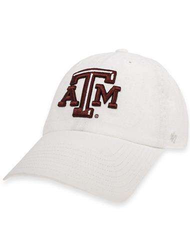 Texas A&M Beveled ATM 2020 Clean Up Cap White