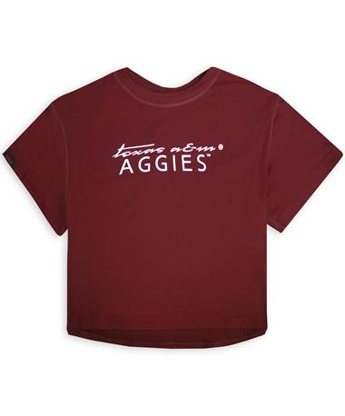 Texas A&M Aggies Kadyluxe Milky Silk Crop Tee
