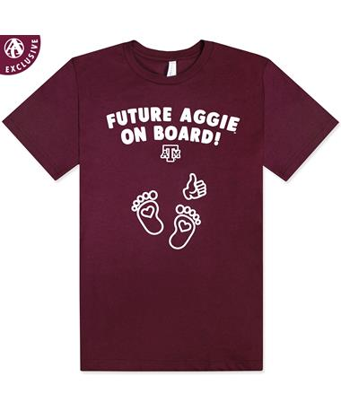Texas A&M Future Aggie Maternity T-Shirt - front 3001C MAROON