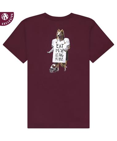 Texas A&M Reveille Eat Mor Longhorns T-Shirt