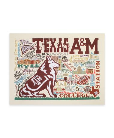 CatStudio Texas A&M Collegiate Fine Art Print 10