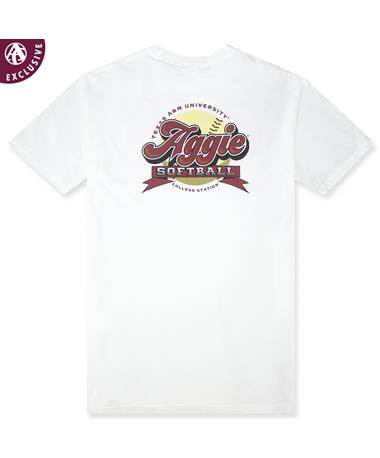 Texas A&M Aggie Softball Bubble Letter T-Shirt