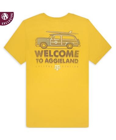 Texas A&M Welcome to Aggieland Car & Surfboard T-Shirt