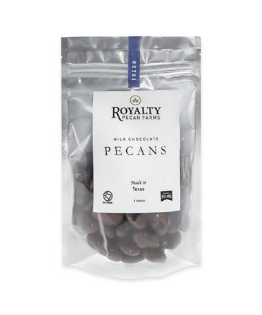 Royalty Pecan Farms Chocolate Coated Pecans - 8 Ounces