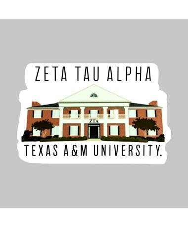Texas A&M Zeta Tau Alpha House Dizzler Sticker