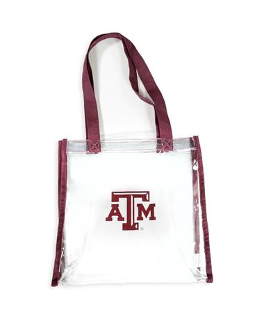 Texas A&M Maroon Clear Bag