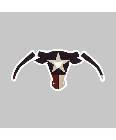 Saw 'Em Off Texas Flag Dizzler Sticker