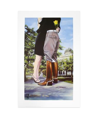 Benjamin Knox Aggieland Kiss Print