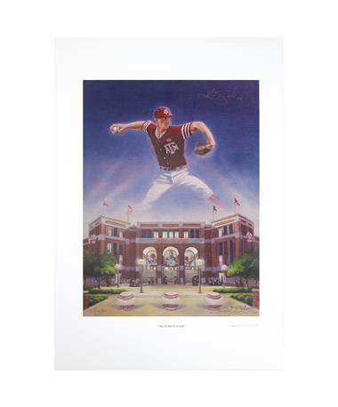 Texas A&M Benjamin Knox Blue Bell Park Signed Lithograph Print