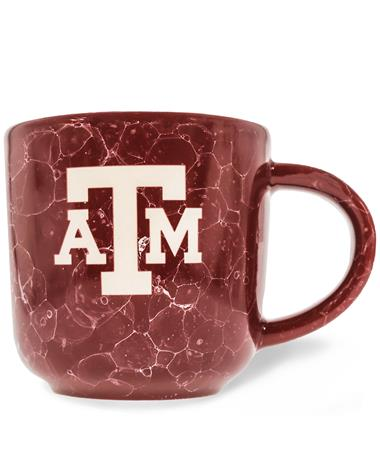 Texas A&M Etched Block ATM Natural Mug
