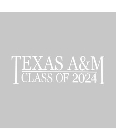 Texas A&M Class of 2024 Vinyl Decal