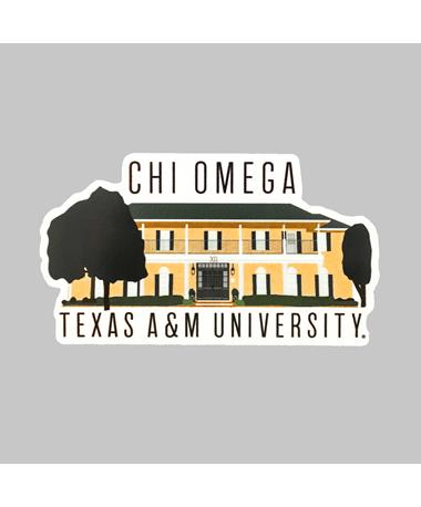 Texas A&M Chi Omega Dizzler Sticker