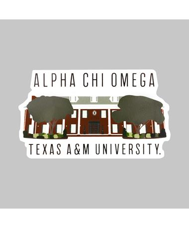 Texas A&M Alpha Chi Omega Dizzler Sticker