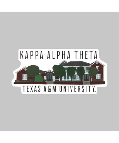 Texas A&M Kappa Alpha Theta Dizzler Sticker