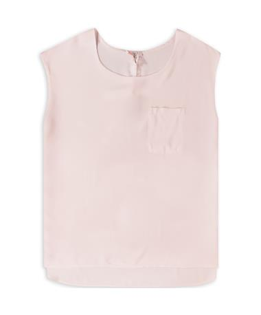 Suzy D Soft Pink Front Pocket Top