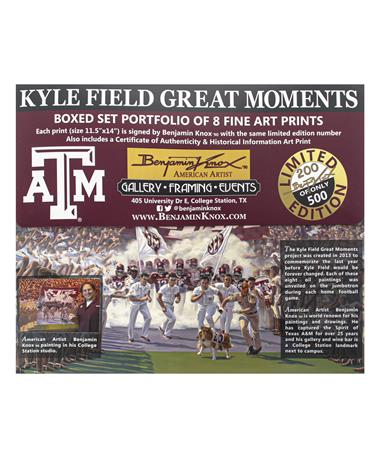 Texas A&M Benjamin Knox Kyle Field Great Moments Prints Set